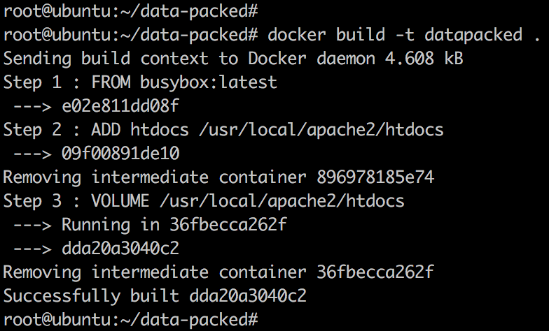 data-packed volume container – 每天5分钟玩转 Docker 容器技术(43)